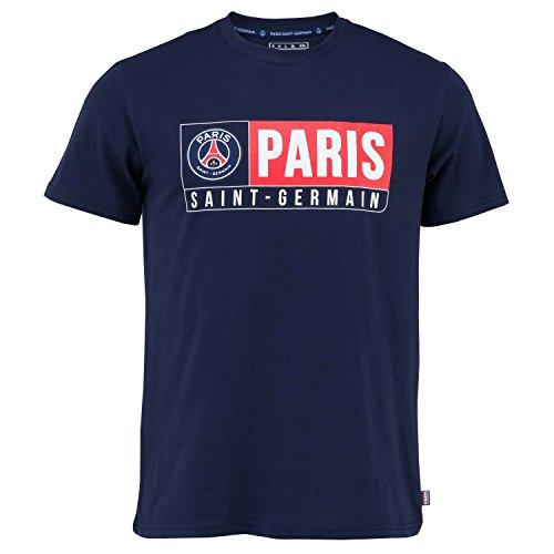 T-Shirt PSG - offizielle Kollektion PARIS SAINT-GERMAIN - Erwachsenengröße Herren XL blau