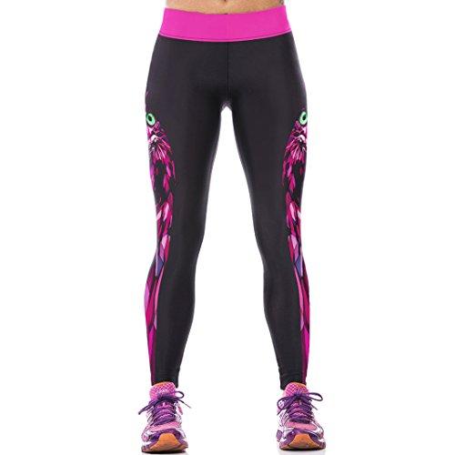Sasairy Donna Sport Pantaloni Full Length Leggings non Pantaloni Collant Elastico ci si Vede Attraverso Fitness Workout Yoga in Esecuzione Hipster Usura Esterna Palestra S-L Colore-013