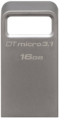 Kingston DataTraveler Micro 3.1 DTMC3/32GB Llave USB 3.1 Ultra pequeña, Ligera, sin Tapa, Metal