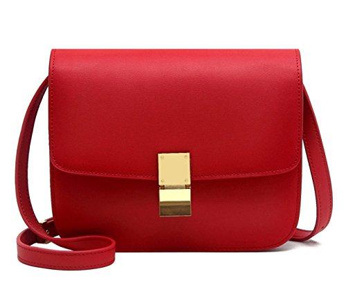 Mme Sac De Coquille De Cuir De Mode red