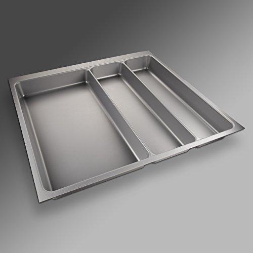 Preisvergleich Produktbild SO-TECH® Besteckeinsatz ORGA-BOX II Maxi für Nobilia 60er Schublade (462 x 509 mm) silbergrau