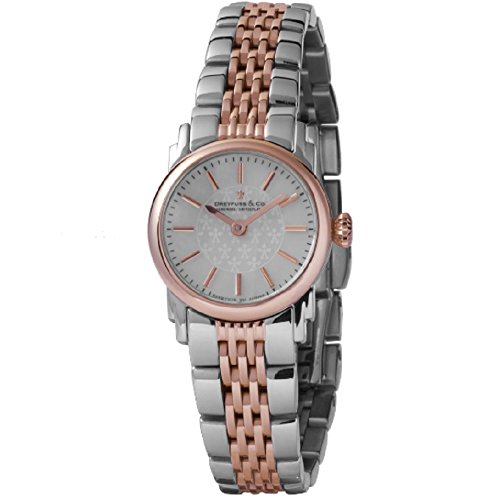 DREYFUSS DBL00050/41 CO LADIES' 1924 EXCLUSIVE STEEL & ROSE GOLD BRACELET WATCH