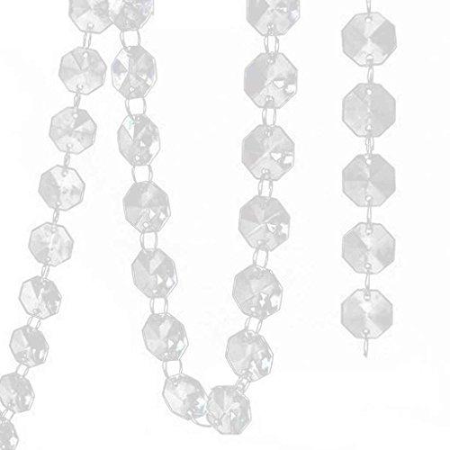 (Lorsoul 14MM Crystal Clear Acryl Octagonal Korn, Hängen Hochzeitsdeko Bäume Center)