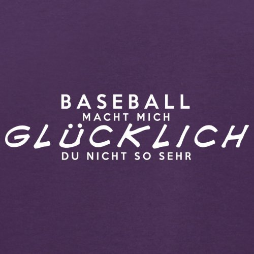 Baseball macht mich glücklich - Herren T-Shirt - 13 Farben Lila