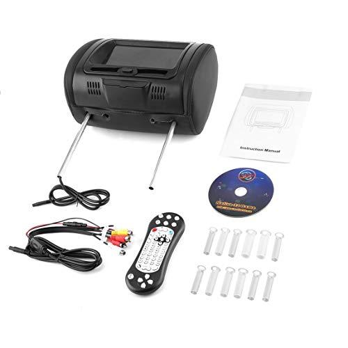 Footprintse Electronica Coche;Accesorios Electronica Coche Universal 7' Reposacabezas Reproductor de DVD para automóvil Monitores Negros con transmisor de Infrarrojos de Color: Negro