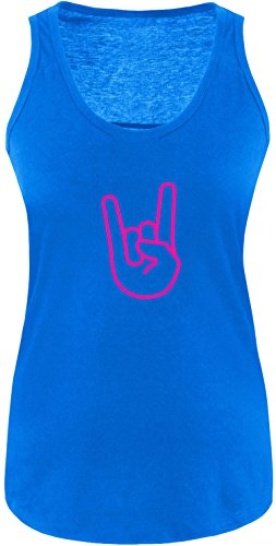 EZYshirt® Rock Hand Damen Tanktop Royal/ Pink