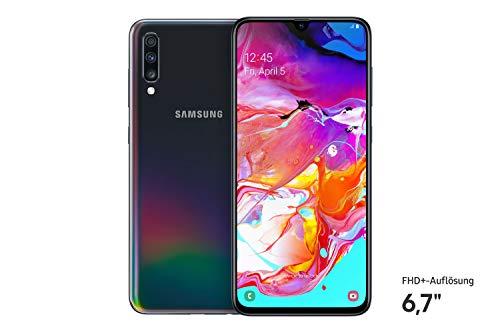 Samsung Galaxy A70 - Smartphone (17.0cm (6,7 Zoll) 128GB interner Speicher, 6GB RAM, Dual Sim, Schwarz) - Deutsche Version