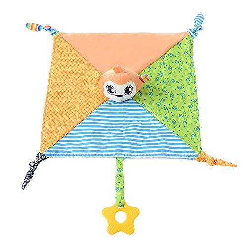 Pinfect 29x29cm Baby Infant Velvet Appease Towel Soft Teether Sleeping Toy (Monkey)
