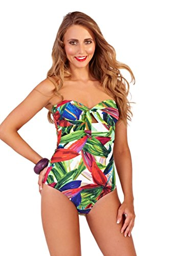 Lora Dora Womens Swimming Costume Size UK 8 Jungle Green -