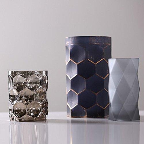 TAIYUANJIN Zylinder Frosted vase,3er-Set Dekorative herzstück für zuhause & Garten-D (Zylinder Vase Herzstück)