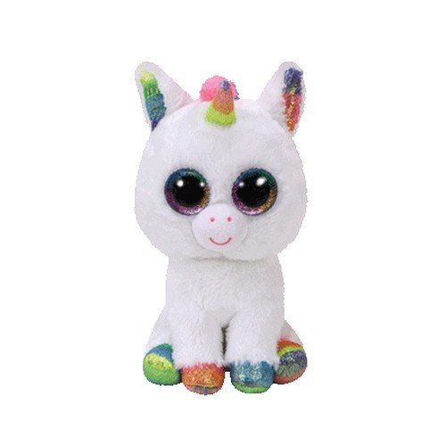 Beanie Boo Unicorn - Pixy, Unicorn - White/Multicoloured - 15cm 6""