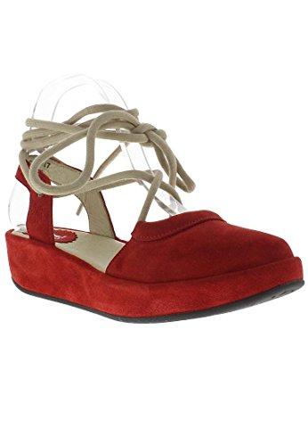 FLY London Beki714 -  Spartiates -  Femme Rouge