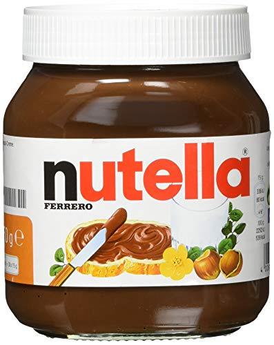 nutella - Nuss-Nougat-Creme, 1 Glas mit 450g, leckere Haselnuss-Schoko-Creme als Aufstrich oder für Rezepte