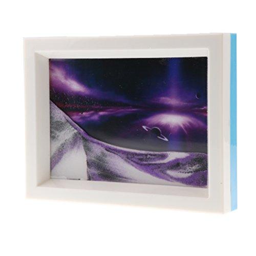 Homyl 3D Flüssige Bewegung Fließende Sandbild Bild Sand Bilderrahmen Zeichnung, Dekoration für Büro, Haus, Arbeitzimmer, usw. - # 3
