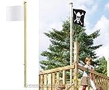 Fahnenmast 300cm mit ca. Durch. 6cm - für Spieltürme Garten, Kinderspieltürme