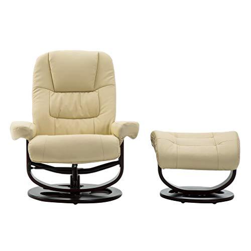 Verstellbar Relaxsessel Fernsehsessel Schaukelstuhl Relaxstuhl Liegesessel TV Sessel mit Hocke, seitlichen Taschen, belastbar bis 120 kg 90x(88-110) x(93-103) CM (Sessel Schaukelstuhl Fernsehsessel)