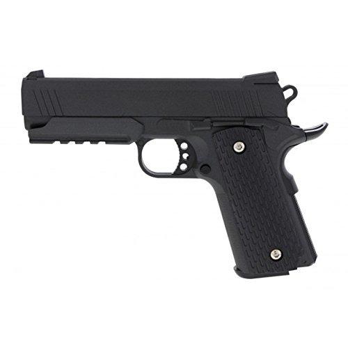 Airsoft Gun G.25 Vollmetall Pistole mit Federdrucksystem (Schwarz Gun-alle Bb)