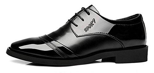 NSPX Scarpe da uomo Uomo Nuove merletto in su i vestiti di abito da sposa scarpe da vestito , 41 BLACK-44