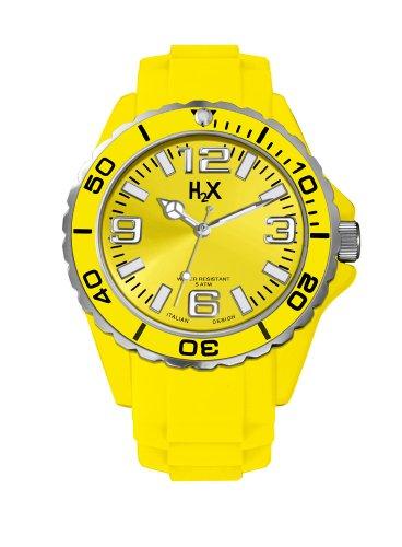 Haurex Damen Analog Quarz Uhr mit Gummi Armband SY382DY1