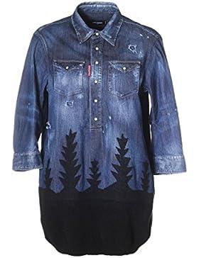 Dsquared2 Camicia Donna S75CU0599S30341470 Cotone Blu