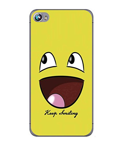 PrintVisa Designer Back Case Cover for Micromax Canvas Fire 4 A107 (Cartoon Fun Smiley face Icon Cute Abstract Illustration)  available at amazon for Rs.296