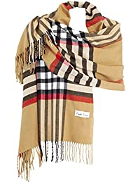 b1501963be1c Ornella Venturi Foulard Etole pour femme écharpe à carreaux en damier doux  et chaud comme du