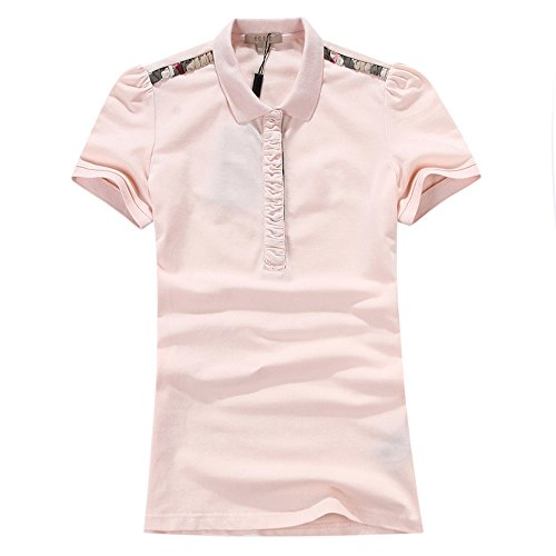 ECTIC Donna Women classic style Fashion Polo shirt Poloshirts Size S-XXL B9822 Pink