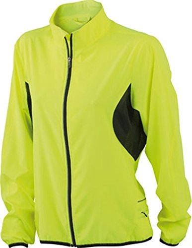 JAMES & NICHOLSON Veste running légere jaune fluorescent/noir