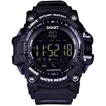 5bf8574fa092 TLfyajJ Pulsera Impermeable del Reloj de Bluetooth Smart del podómetro de  Recuerdo al Aire Libre EX16
