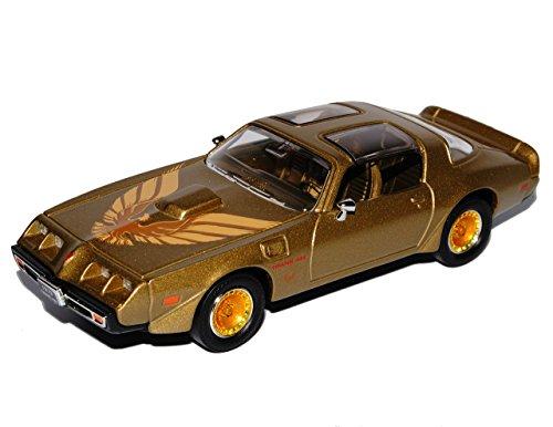 Am Modellauto Trans (Pontiac Trans Am Firebird Gold mit Vogel 2. Generation 1970-1981 1/43 Yatming Modell Auto)