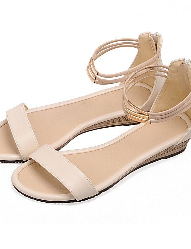 UWSZZ IL Sandali eleganti comfort Scarpe Donna-Sandali-Formale / Casual-Zeppe / Aperta-Zeppa-Finta pelle-Nero / Blu / Bianco / Beige Blue