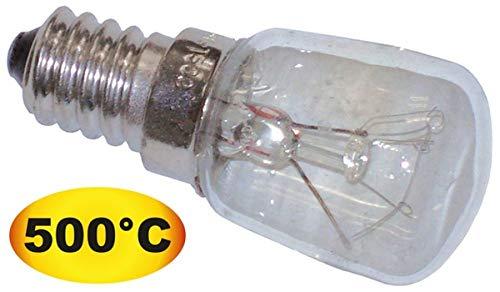 Glühlampe T.max. 500°C Fassung E14 25W 240V ø - Pizzaofen Beleuchtung