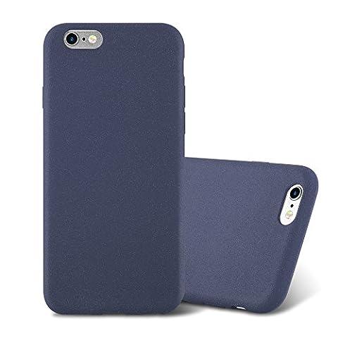 Cadorabo - Ultra Slim TPU Frosted Mate Coque Gel (silicone) pour Apple iPhone 6 / 6S - Housse Case Cover Bumper en FROST-BLEU-FONCÉ