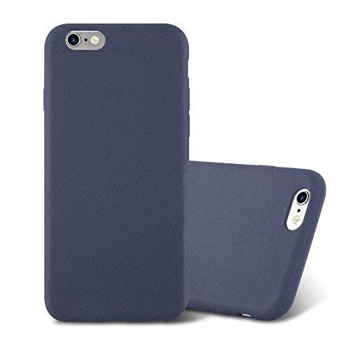 Cadorabo custodia per apple iphone 6 / iphone 6s in frost blu scuro - morbida cover protettiva sottile di silicone tpu con bordo protezione - ultra slim case antiurto gel back bumper guscio