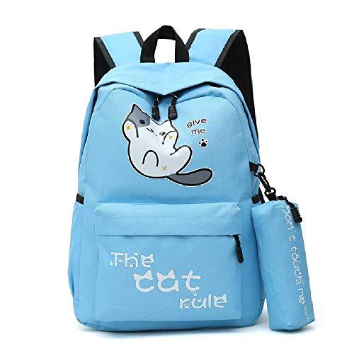 YJZZ Umhängetasche Damen Mode Campus Nylon Rucksack LässigE Damen Tasche Tasche 20L oder weniger/azurblau