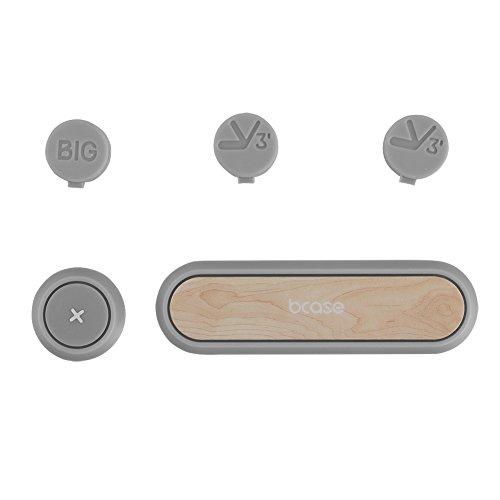 BCASE selbstklebende Datenkabel Organizer Kabel Organizer Kabelbefestigungen Mehrzweck,im Auto oder Wohnbereich Desktop Kabel Clip Halter Stand,3 Magnetknopf(Kirschholz)