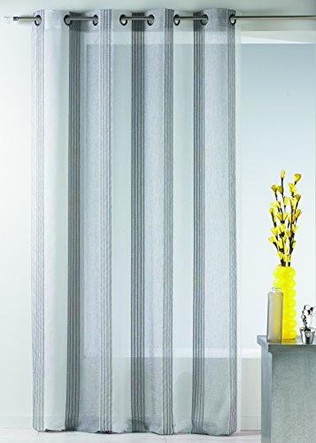 Hm6947298 home maison-tenda con fantasia a righe verticali in etamine, in poliestere, 150 x 260 cm grigio