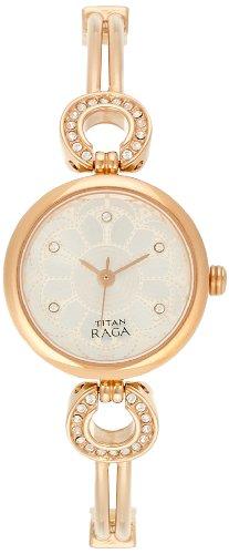41YnpO5Si4L - Titan 311WM01 Raga Silver Women watch
