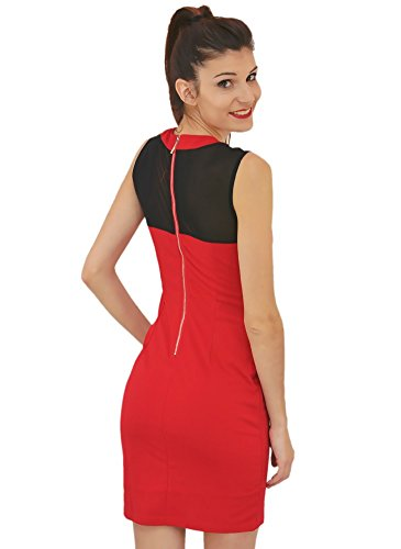 Robe Moulante Chic Rouge Rouge