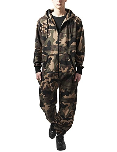Urban Classics Jumpsuit, Tuta Intera Uomo, Mehrfarbig (Wood Camo 396), Medium