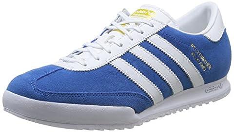 adidas Originals Beckenbauer Unisex-Erwachsene Sneakers, Blau (Bluebird/Ftwr White/Gold Met.), 42