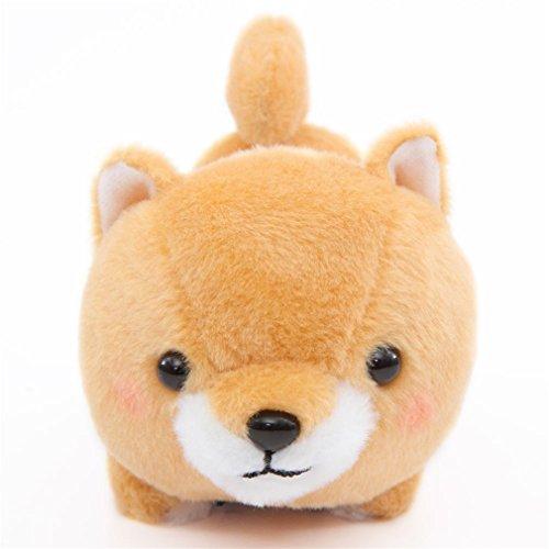 Kawaii Peluche perro marrón pañuelo azul Mameshiba San Kyodai de Japón