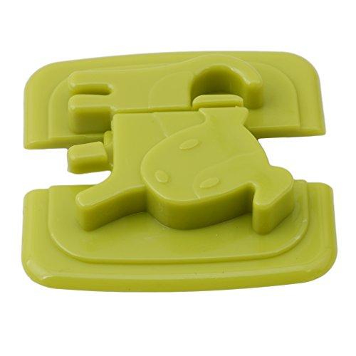 yinew Kind Sicherheit Schlösser Kühlschrank Kühlschrank Gefrierschrank Tür Lock Laschen Catch Kleinkind Kids Kind Baby Schrank Schlösser, plastik, grün, Siehe Produktbeschreibung
