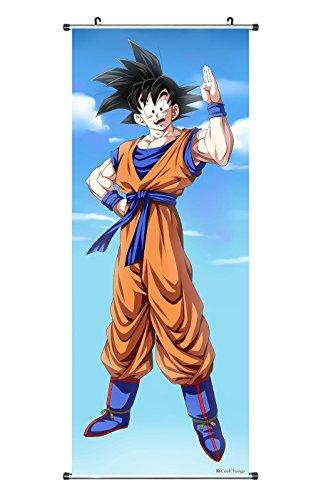 CoolChange Großes Dragon Ball Rollbild / Kakemono aus Stoff Poster, 100x40cm, Motiv: Son Goku