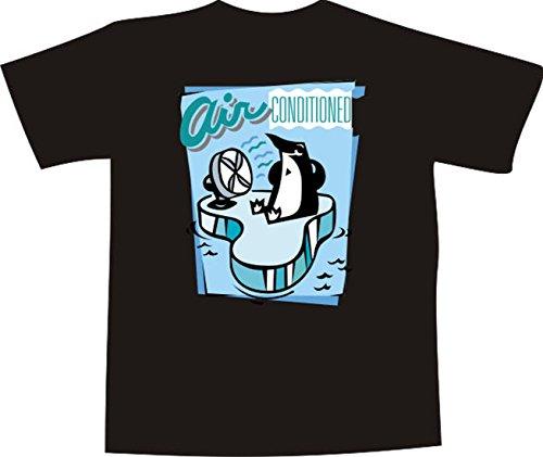 Black Dragon - T-Shirt E1192 - weiß - Größe XXL - Logo / Grafik / Design - Pinguin mit Ventilator - Funshirt Mann Frau Party Fasching Geschenk Arbeit - bedruckt (Pinguin-logo-shirt)