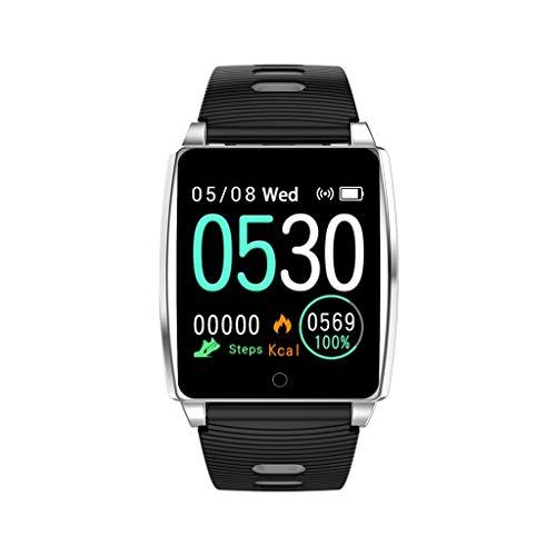 Smartwatch, TIianranSchlaSmPedometer RT AK18 Herzfrequenz-BlutdartWatch ruck-Tracker, Fitness Tracker Wasserdicht Fitness Watch mit Herzfrequenz Messgerät Schlafmonitor (Weiß) - Uhr Dusche Lcd
