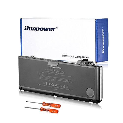 Runpower Neue Laptop-Akku für Apple A1322 A1278 (Mitte 2009, Mitte 2010, Anfang 2011, Ende 2011, Mitte 2012 Version) Unibody MacBook Pro 13 Zoll, MD101LL / A MC374LL / A MB990LL / A MB991LL / A MC700LL / A + Zwei Gratis-Schraubendreher - 18 Monate Garantie [Li-Polymer-6-Zellen 65Wh / 6000mAh] (2009 Macbook Akku 13 Mitte Pro)