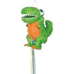 Unique Party - Piñata Dinosaurio T-Rex, Para Tirar (65996)