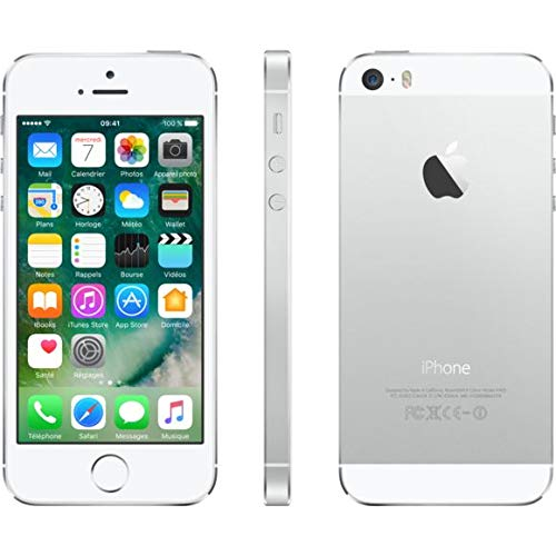 "Apple iPhone 5s, 4"" Display, SIM-Free, 16 GB, 2013, Silber (Generalüberholt)"