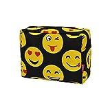 Emoji Faces-Black : Emoji Faces Print NGIL Large Cosmetic Travel Pouch